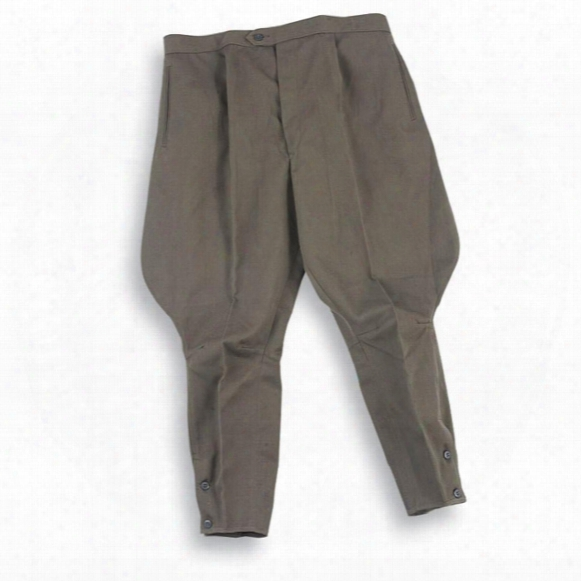 2 New East German Military Surplus Riding Pants, Gray