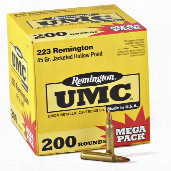 200 Rounds 45 Grain Hollow - Point Remington .223 Ammo