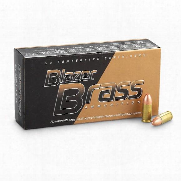 Cci Blazer Brass Centerfire, 9mm Luger, Fmj-rn, 115 Grain, 50 Rounds