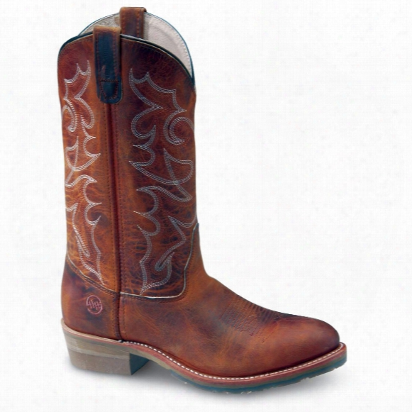 Double - H&#174 Gel Ice Western Work Boots, Brown