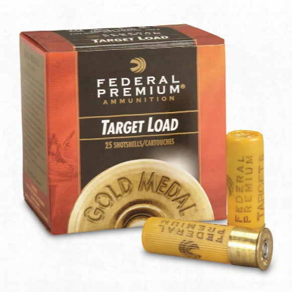"Federal, 20 Gauge, Gold Medal Plastic Shot Shells, 2 3/4"" 7/8 Oz., 25 Rounds"