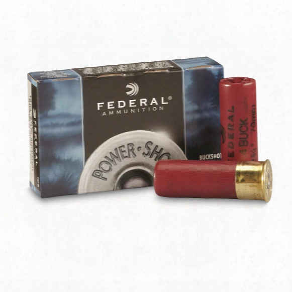 "Federal Classic, 12 Gauge, 2 3/4"" 27 Pellets 4 Buck Buckshot, 5 Rounds"