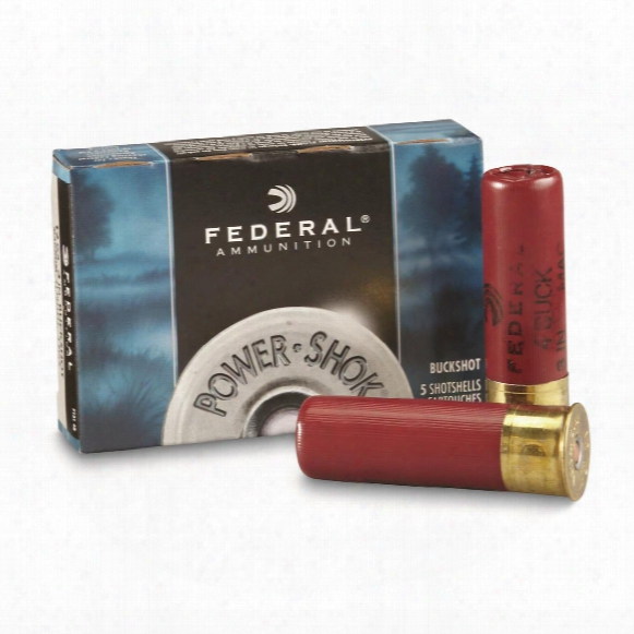 "Federal Classic, 12 Gauge, 3"" 41 Pellets 4 Buck Buckshot, 5 Rounds"