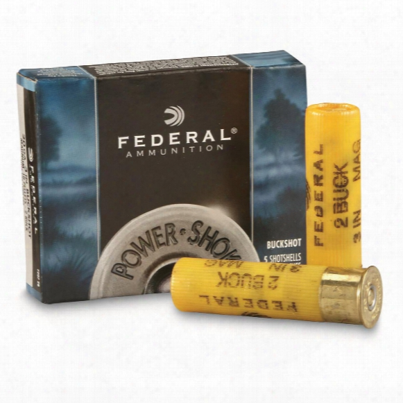 "Federal Classic, 20 Gauge, 3"" 18 Pellets 2 Buck Buckshot, 5 Rounds"