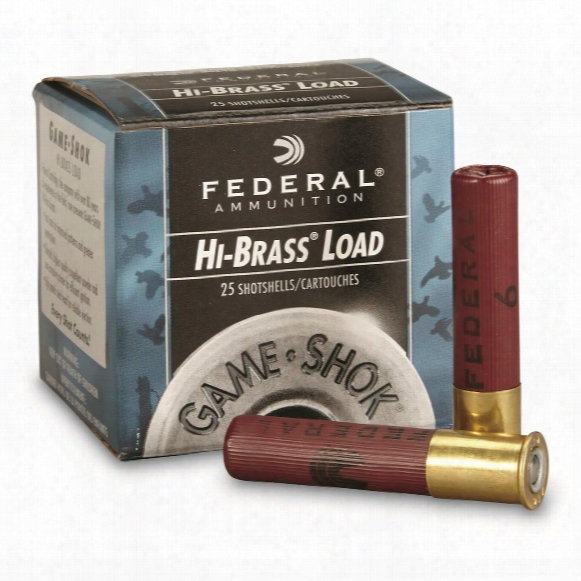 Federal Classic, Hi-brass, 410 Gauge, 2 1/2&quot 1/2 Oz. Shotshells, 25 Rounds