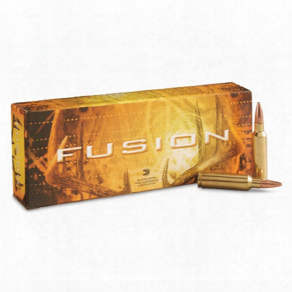 Federal Fusion, .300 Win. Short Magnum, Bt, 180 Grain, 20 Rounds