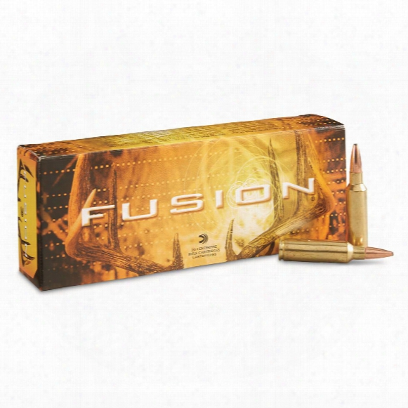 Federal Fusion, .030 Winchester Short Magnum, Bt, 165 Grain, 20 Rounds