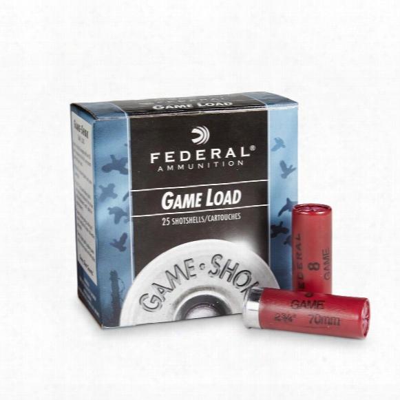 """Federal Game Load 12 Gauge 2 3/4"""" 1 Oz. Shotshells 25 Rounds"""
