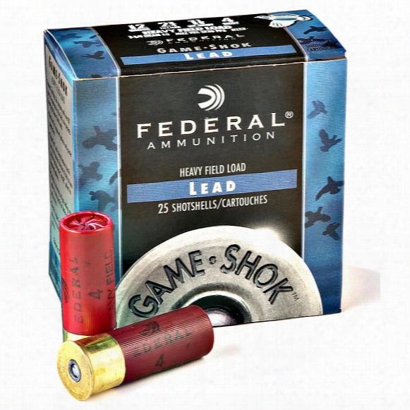 "Federal Game-shok Heavy Field, 12 Gauge, 2 3/4"" 1 1/8 Oz. Shotshell, 25 Rounds"