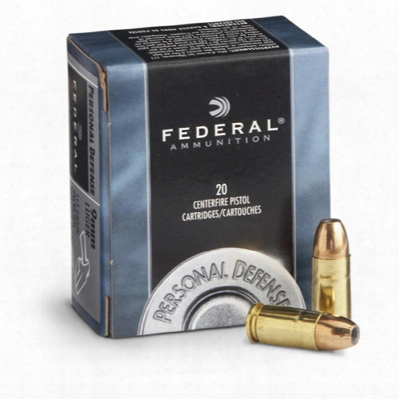 Federal Personal Defense, 9mm Luger, Jhp, 115 Grain, 20 Rounds