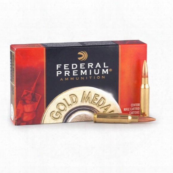 Federal Premium Gold Medal, .308 Win., Mks Bthp, 168 Grain, 20 Rounds