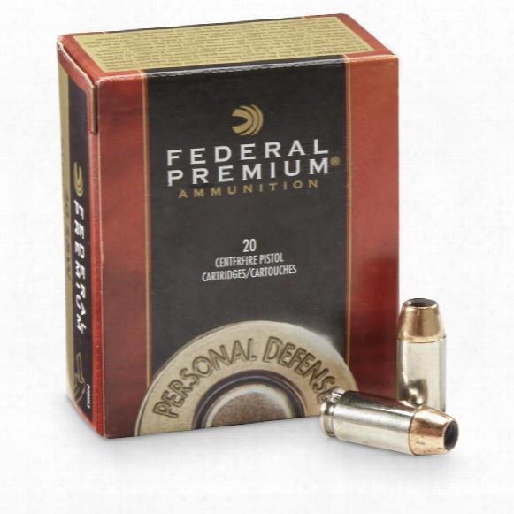 Federal Premium Hydra-shok .40s&w 165 Grain Hsjhp 20 Rounds