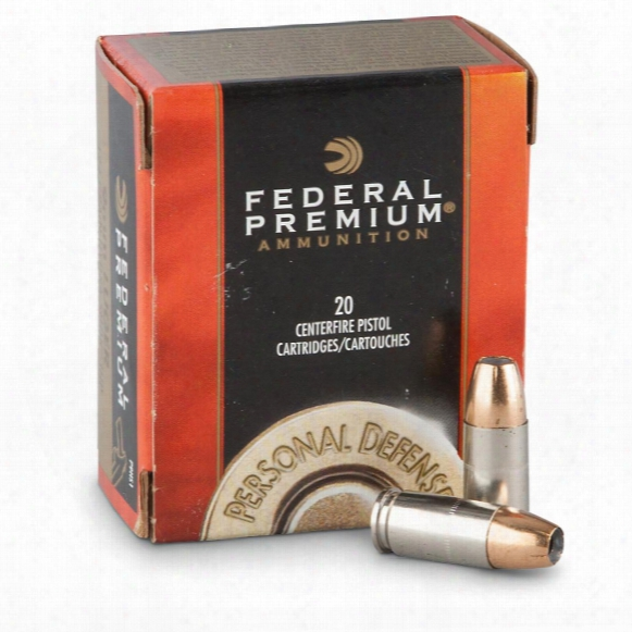 Federal Premium Hydra-shok, 9mm Luger, Hsjhp, 124 Grain, 20 Rounds