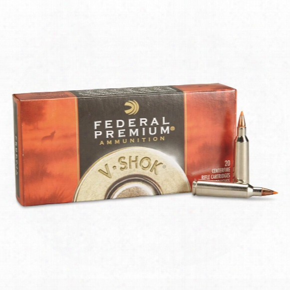 Federal Premium V-shok, .22-250 Remington, Nbt Varmint, 55 Grain, 20 Rounds