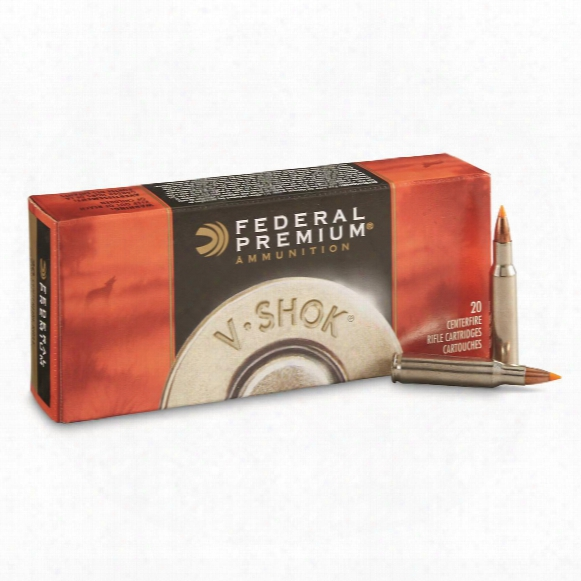 Federal Premium V-shok, .222 Remington, Nbt Varmint, 40 Grain, 20 Rounds