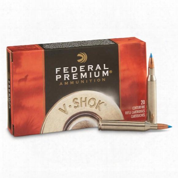 Federal Premium V-shok, .25-06 Remington, Nbt Varmint, 85 Grain, 20 Rounds