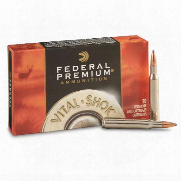 Federal Premium Vital-shok, .270 Win., Sierra Gameking Btsp, 130 Grain, 20 Rounds