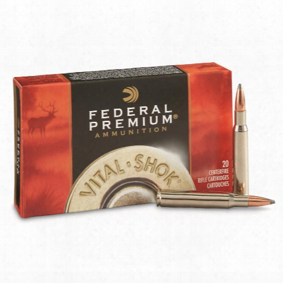 Federal Premium Vital-shook Nosler Partitio,n .30-06 Springfield, Np, 180 Grain, 20 Rounds