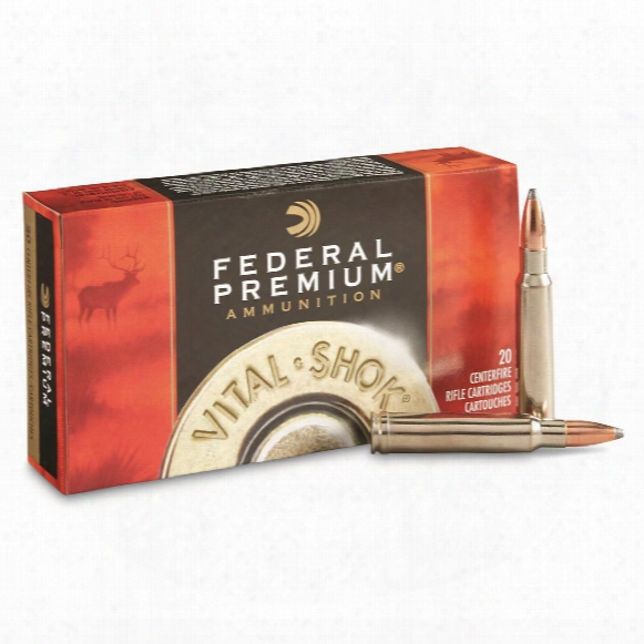 Federal Premium, Vital-shok Nosler Partition, .338 Winchester Magnum, Np, 210 Grain, 20 Rounds