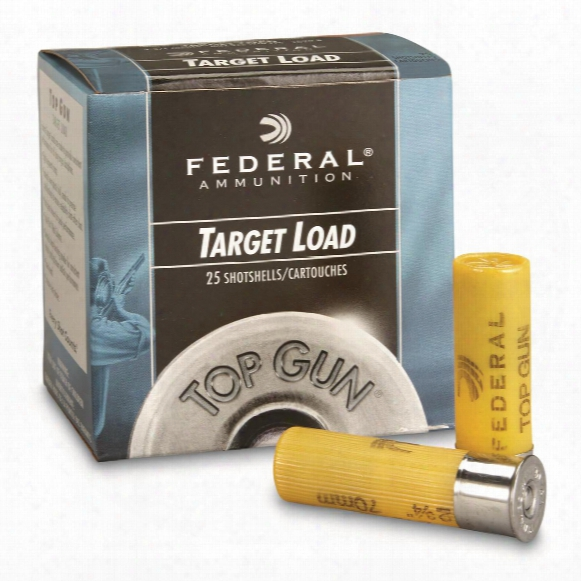 "Federal, Top Gun Target, 20 Gauge, 2 3/4"", 7/8 Oz. Shotshells, 25 Rounds"