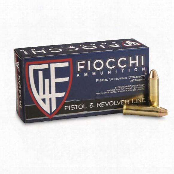Fiocchi, .357 Magnu, Fmj Tc, 142 Grain, 50 Rounds