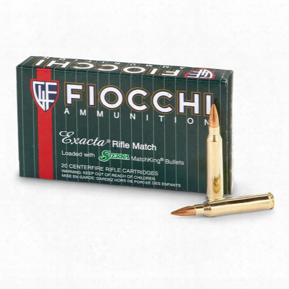Fiocchi Exacta .223 Rem. 69 Grain Rifle Ammo, 20 Rounds
