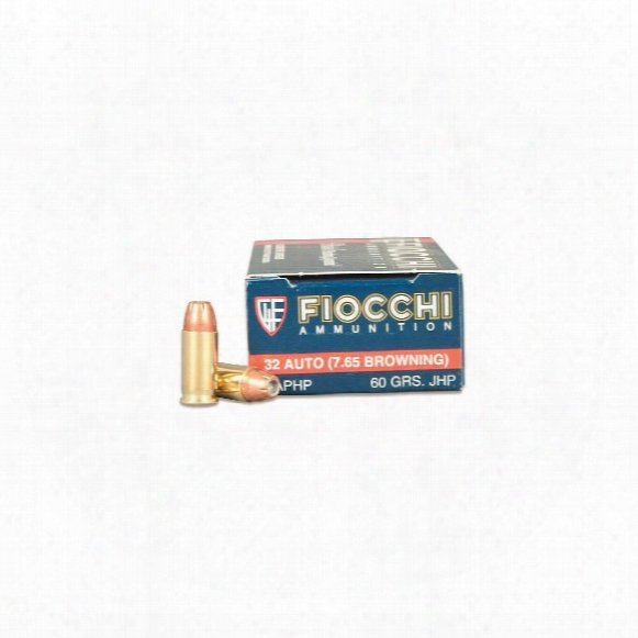 Fiocchi Shooting Dynamics, .32 Acp (7.65mm), Jhp, 60 Grain, 50 Rounds