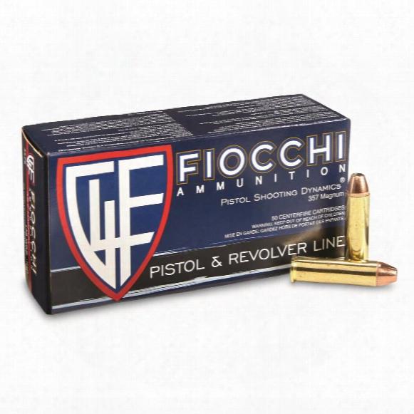 Fiocchi Shooting Dynamics, .357 Magnum, Jhp, 148 Grain, 50 Rounds