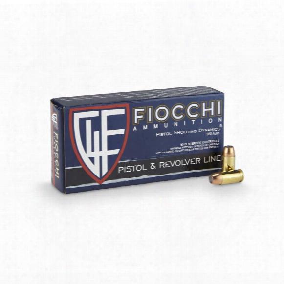 Fiocchi Shooting Dynamics, .380 Acp, Jhp, 90 Grain, 50 Rounds