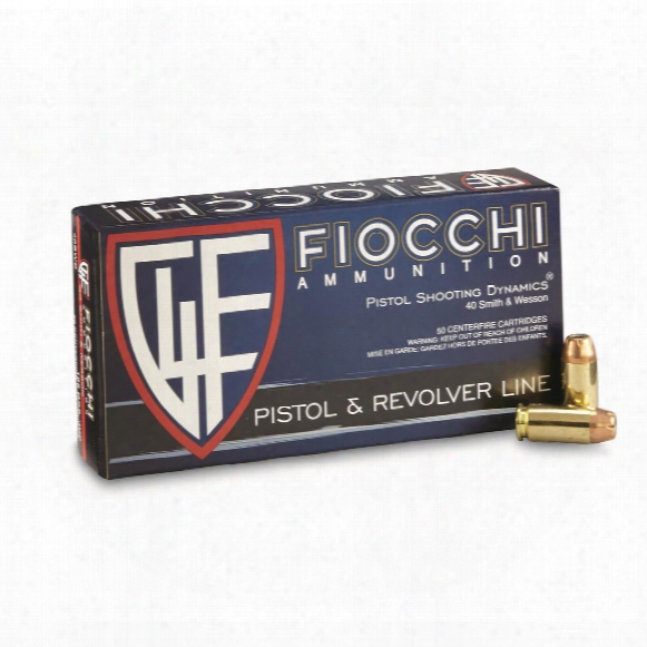 Fiocchi, Shooting Dynamics, .40 S&w, Jhp, 165 Grain, 50 Rounds