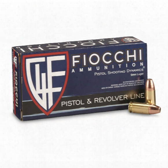 Fiocchi Shooting Dynamics, 9mm Luger, Jhp, 147 Grain, 50 Rounds