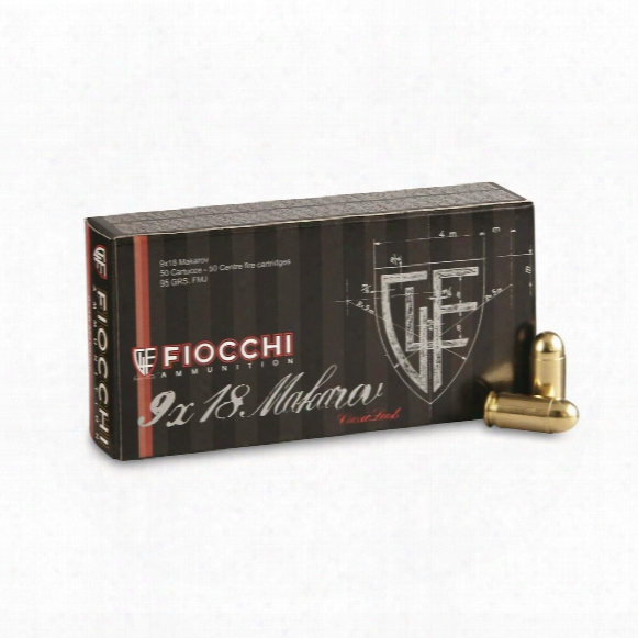 Fiocchi Shooting Dynamics, 9x18mm Makarov, Fmj, 95 Grain, 50 Rounds