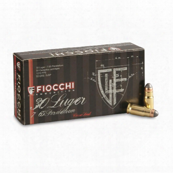 Fiocchi Specialty, .30 Luger, Jsp, 93 Grain, 50 Rounds