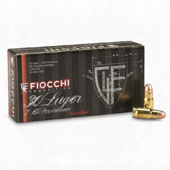 Fiocchi Specialty, .30 Luger, Mc, 93 Grain, 50 Rounds