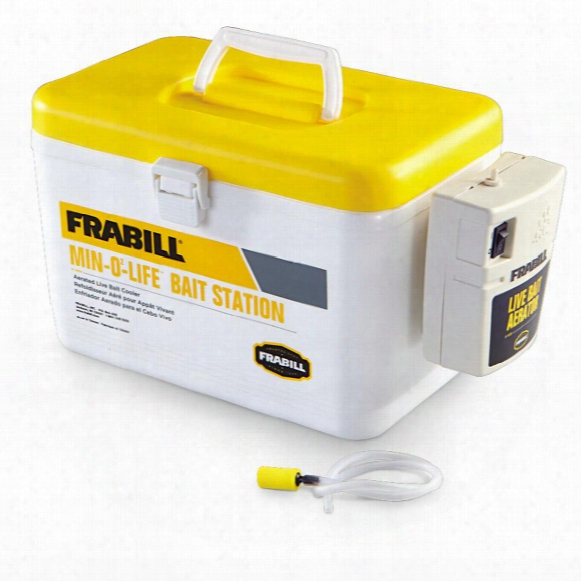 Frabil L 8-qt. Min-o-life Bait Station Cooler, Yellow / White