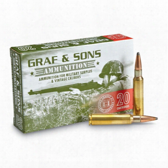 Graf & Sons Hornady Contract Loaded, 7.5x55mm Swiss, Btsp, 165 Grain, 20 Rounds