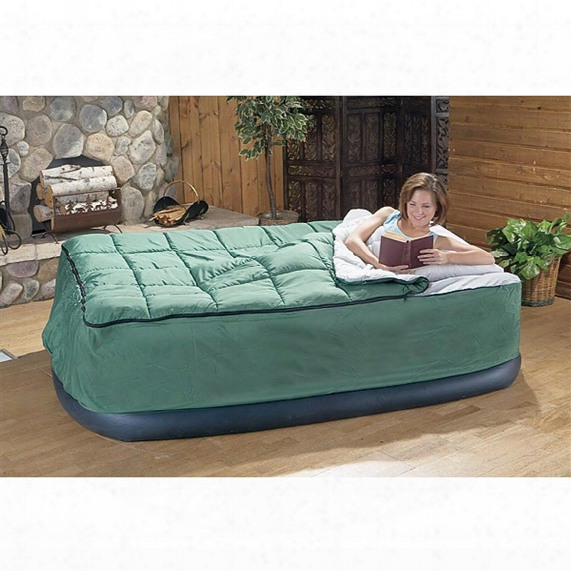 Guide Gear Queen Air Bed Fitted Cover / Sleeping Bag, Green