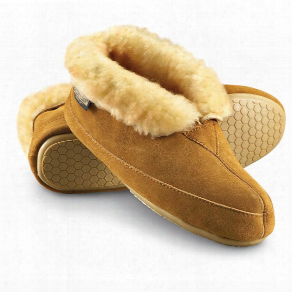 Guide Gear Women's Wool Roll Bootie Slippers
