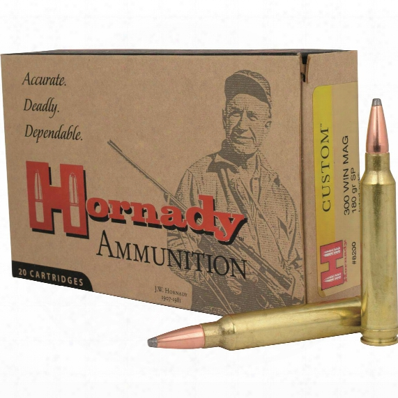 Hornady Interlock Rifle, .300 Win. Mag., Sp, 180 Grain, 20 Rounds