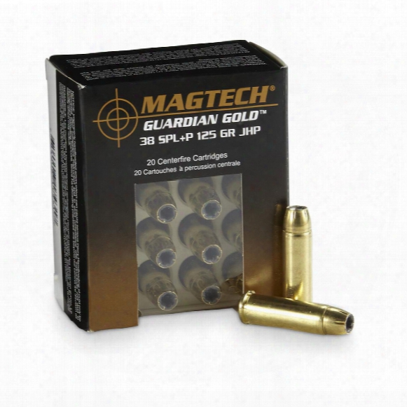 Magtech Guardian Gold, .38 Special + P, Jhp, 125 Grain, 20 Rounds
