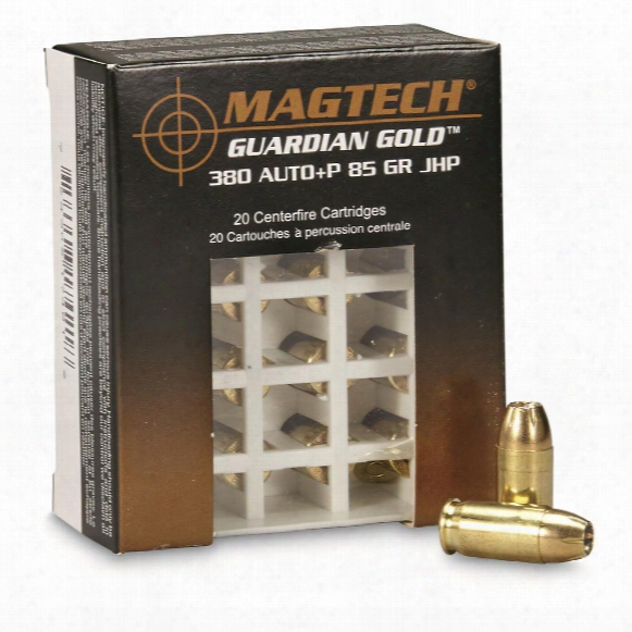 Magtech Guardian Gold, .380 Acp+p, Jhp, 85 Grain, 20 Rounds