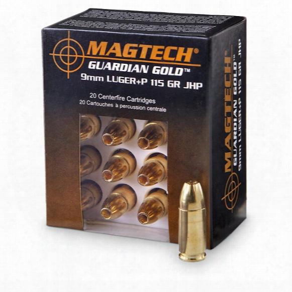 Magtech Guardian Gold, 9mm Luger+p, Jhp, 115 Grain, 20 Rounds