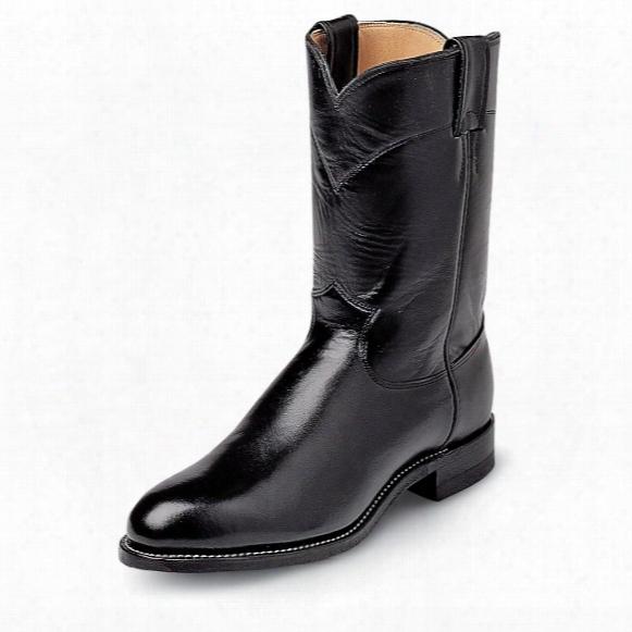 "Men's Justin® 10"" Kipskin Boots, Black"