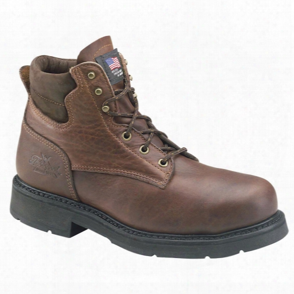 "Men's Thorogood® 6"" American Heritage Safety Toe Boots, Black Walnut"