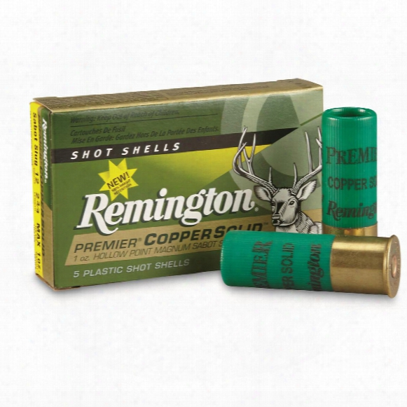 "Remington, 12 Gauge, 2 3/4"" Copper Solid Sabot Slug, 5 Rounds"