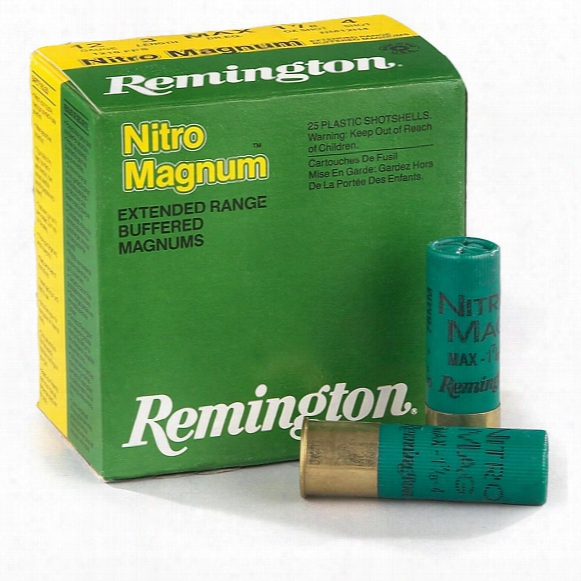 "Remington, 12 Gauge, 3"" Shell, 1 7/8 Oz., Nitro Magnum, 25 Rounds"