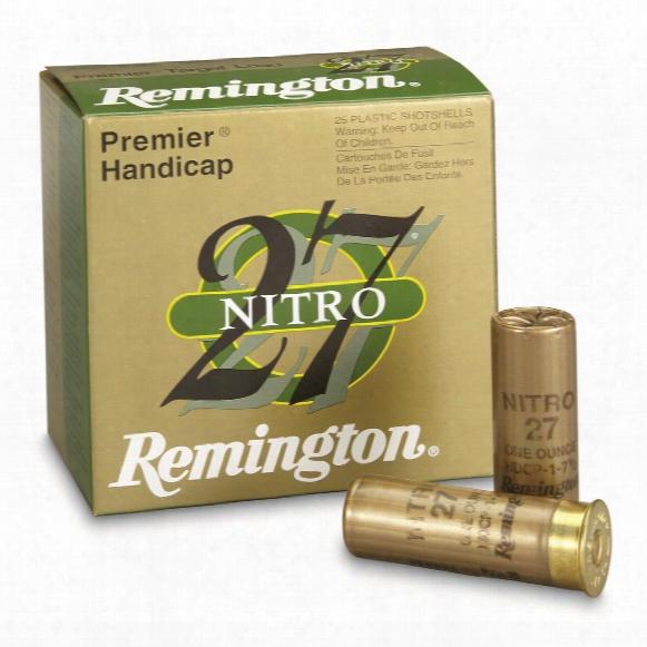 """Remington, 12 Gauge, Premier Nitro 27 Handicap Loads, 2 3/4"""" 1 Ozs., 25 Rounds"""