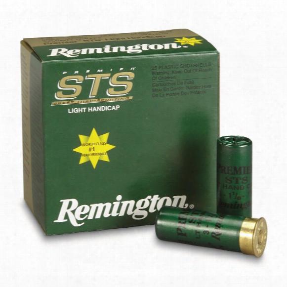 """Remington, 12 Gauge, Premier Sts Light Handicap Loads, 2 3/4"""" 1 1/8 Ozs., 25 Rounds"""