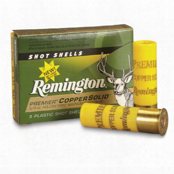 "Remington, 20 Gauge, Copper Solid Sabot Slug, 2 3/4"" Shell, 5 Rounds"
