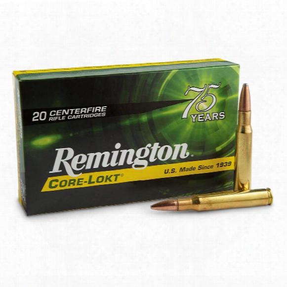 Remington, .30-06 Springfield, Psp Core-lokt, 180 Grain, 20 Rounds